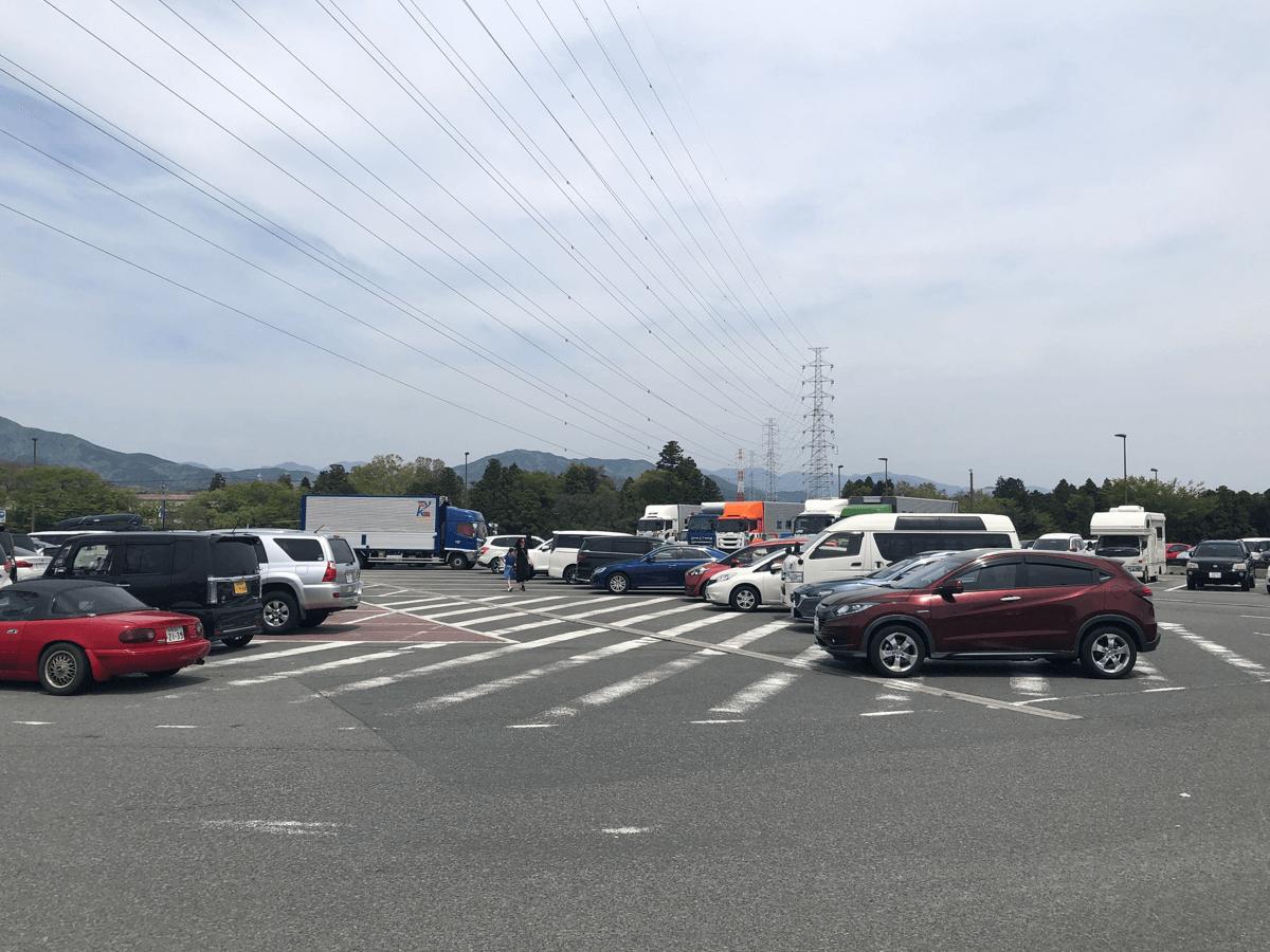 道の駅ふじおやま駐車場