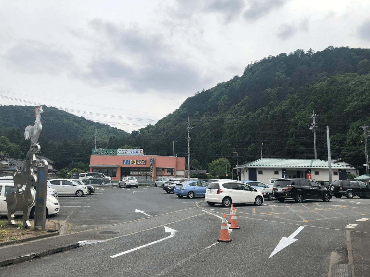 道の駅かつら駐車場