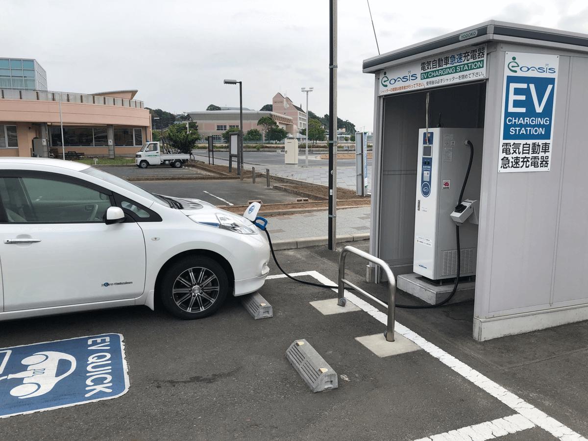 道の駅日立おさかなセンターEV充電