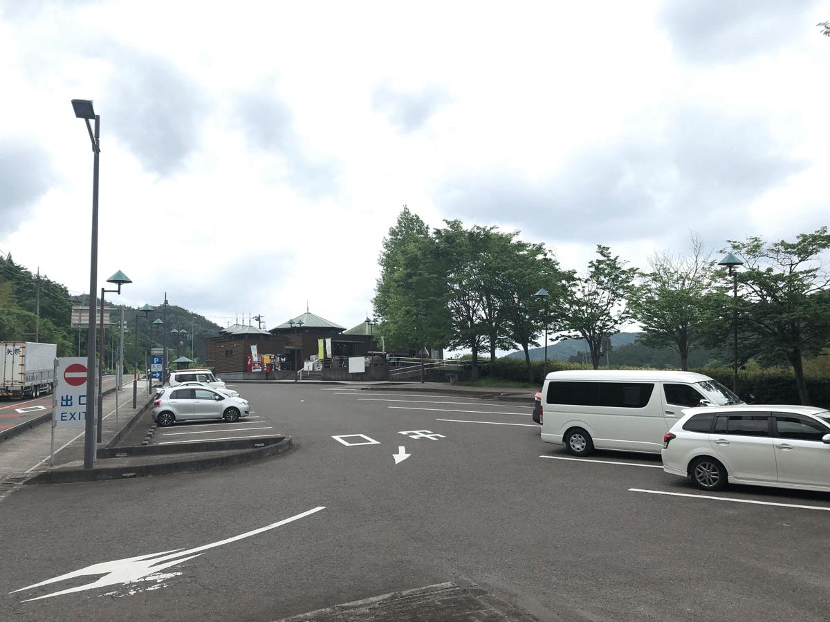 道の駅さとみ駐車場