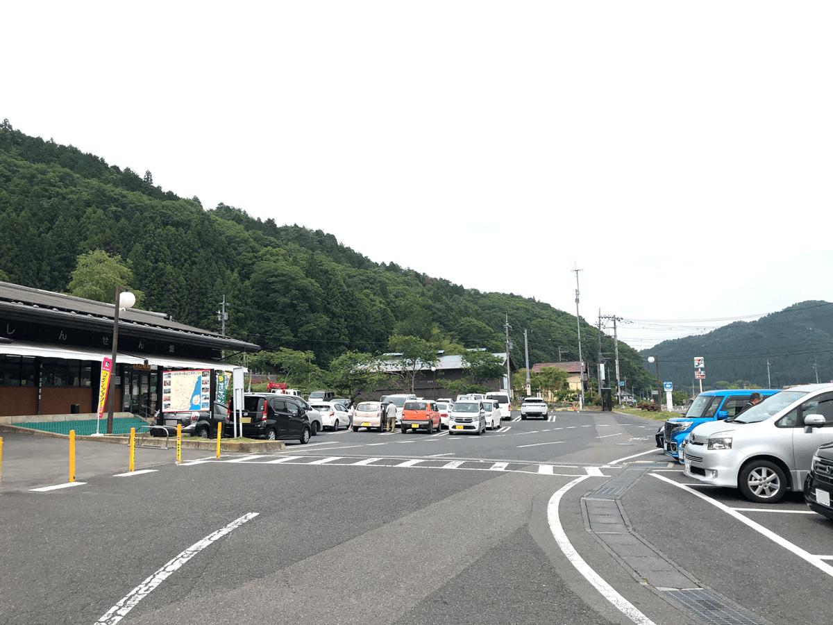 道の駅みわ駐車場