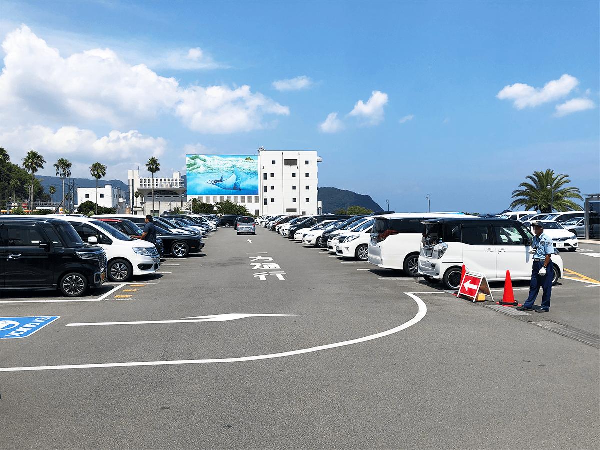 静岡県道の駅伊東マリンタウン駐車場