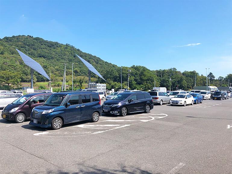 栃木県道の駅みかも 駐車場