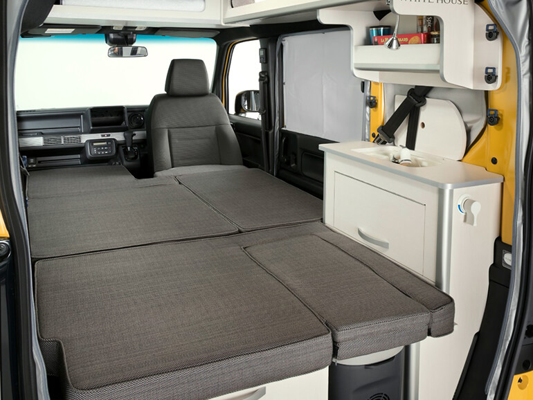 ホワイトハウス N-VAN Compo Pop Cabin ベッド