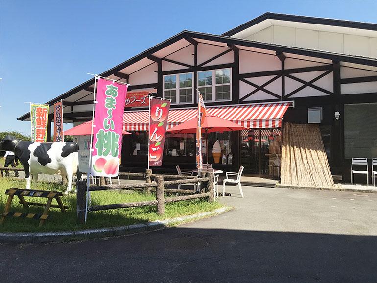 長野県道の駅信濃路下條駅内風景