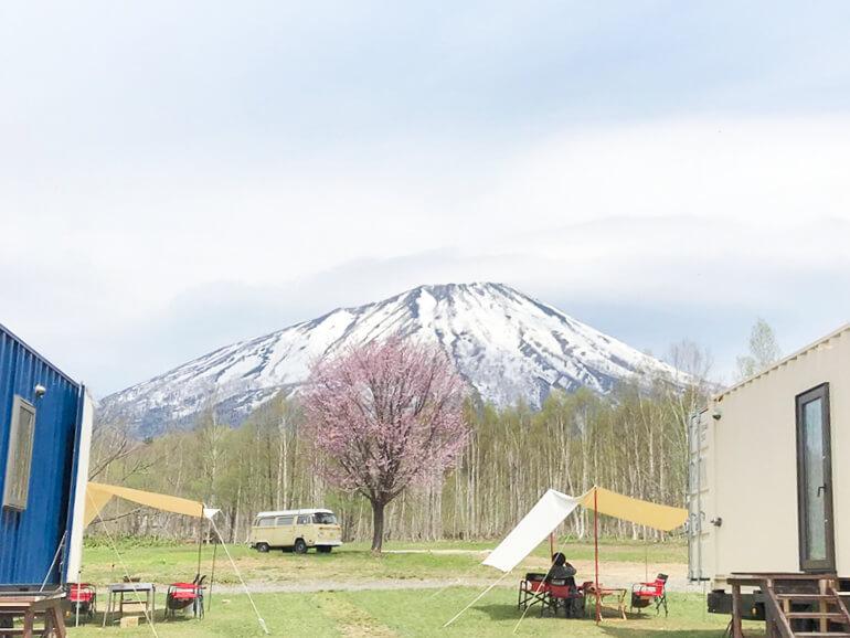 北海道 真狩 焚き火キャンプ場