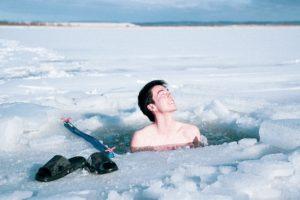 氷上 水風呂
