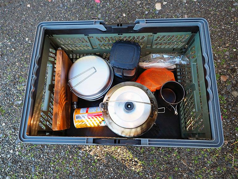 釣り道具 コンテナ 車内収納