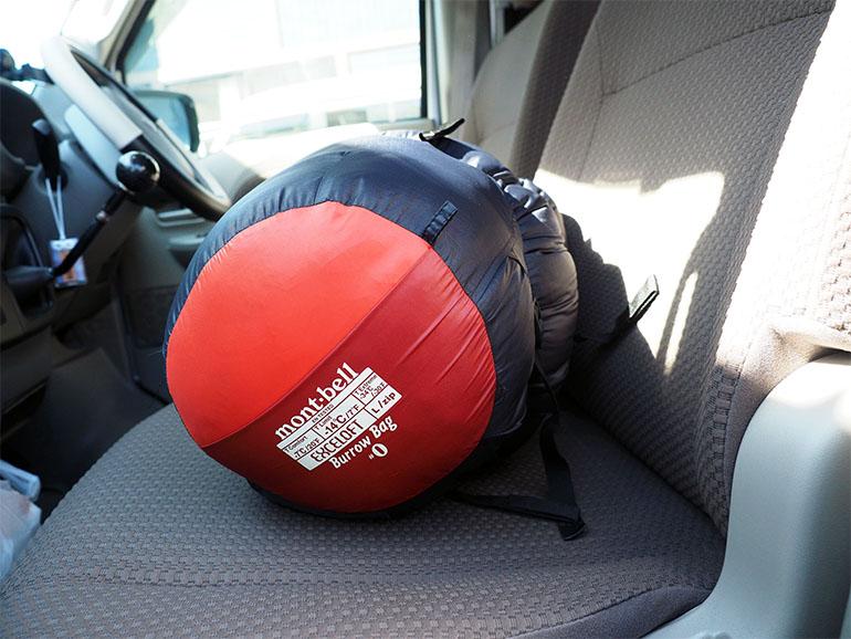 車中泊 寝袋(シュラフ)